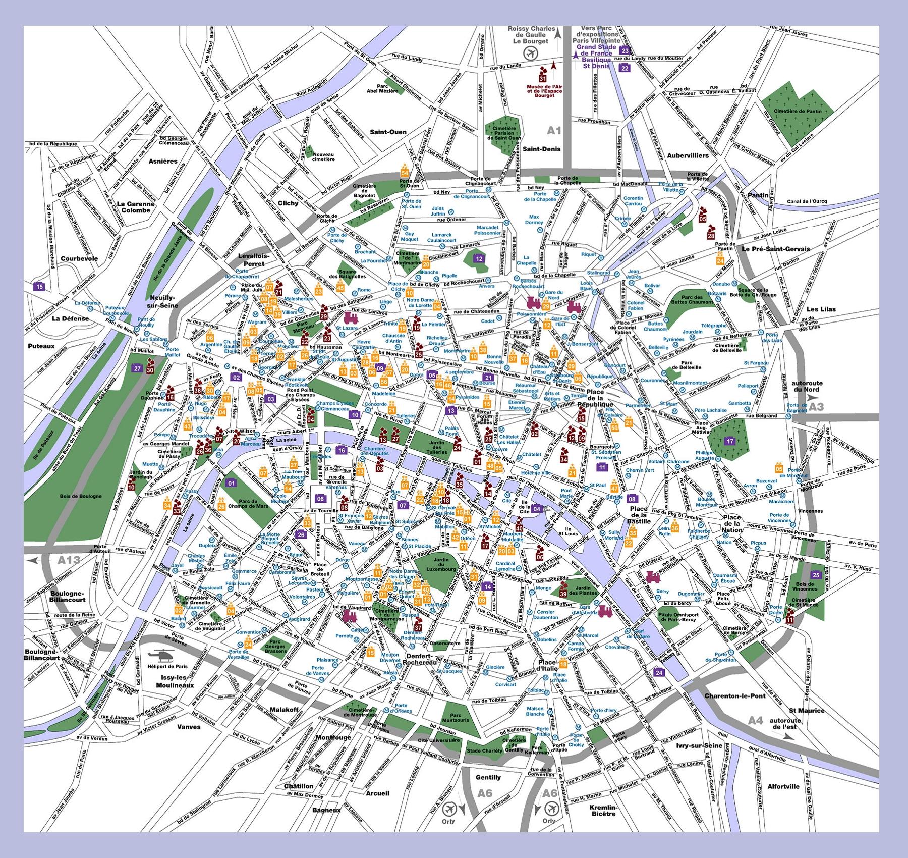 map of paris wwwparis tourismcom