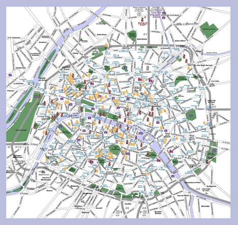 map of paris - www.paris-tourism.com