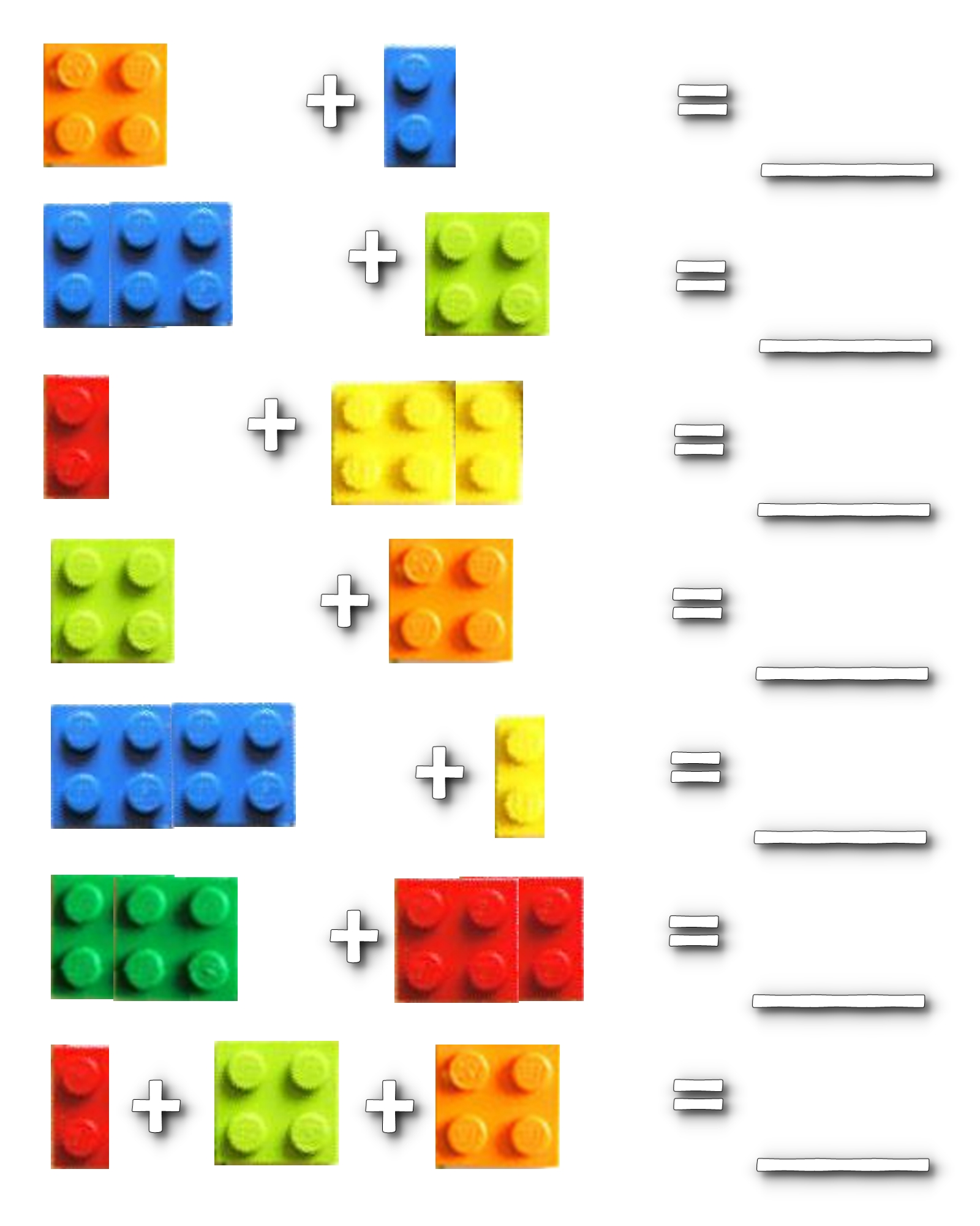 Lego Math Worksheets | the Kent chronicles